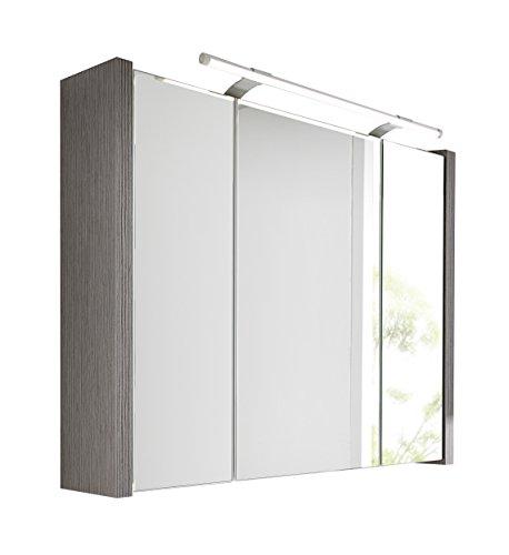 41Ow+BZHGiL - Schildmeyer Spiegelschrank Holz Dekor, 70 x 17 x 67 cm, esche grau