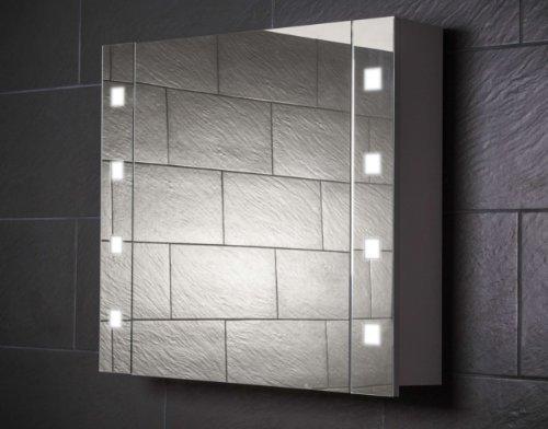 galdem cube80 spiegelschrank holz 80 x 65 x 15 cm weiss - Galdem CUBE80 Spiegelschrank, holz, 80 x 65 x 15 cm, weiß