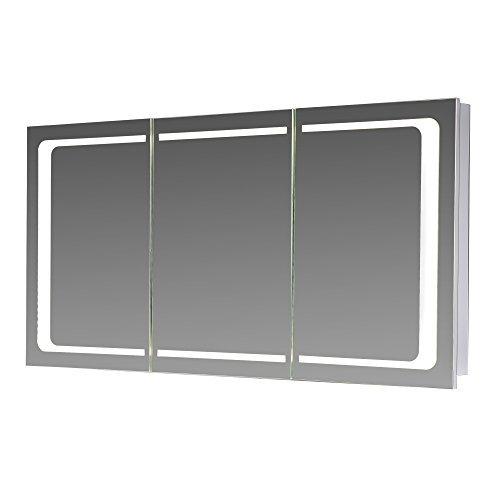 eurosan 3 t riger spiegelschrank integrierte led frontbeleuchtung breite 120 cm wei london. Black Bedroom Furniture Sets. Home Design Ideas